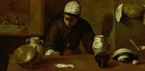 Kitchen Maid with the Supper at Emmaus by Diego Rodriguez de Silva y Velazquez