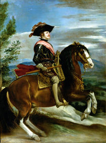 Equestrian Portrait of King Philip IV of Spain  von Diego Rodriguez de Silva y Velazquez