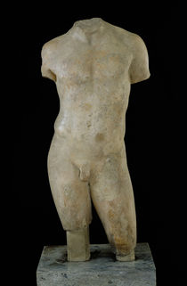 Nude male torso  by Greek