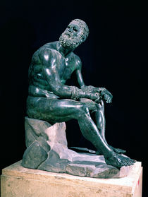 Seated boxer  by Greek