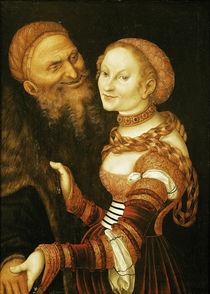 The Courtesan and the Old Man von the Elder Lucas Cranach