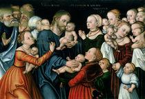 Suffer the Little Children to Come Unto Me von the Elder Lucas Cranach
