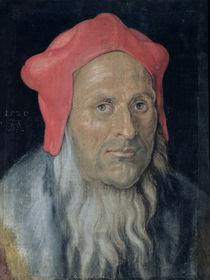 Portrait of a Bearded Man in a Red Hat by Albrecht Dürer