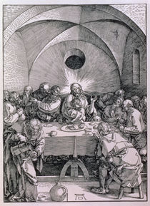 The Last Supper from the 'Great Passion' series by Albrecht Dürer
