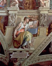 Sistine Chapel Ceiling: Erythraean Sibyl by Michelangelo Buonarroti