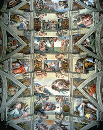 Sistine Chapel ceiling and lunettes by Michelangelo Buonarroti