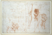 Study for a Group of Wrestlers by Michelangelo Buonarroti