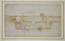 Sketch of San Lorenzo  von Michelangelo Buonarroti