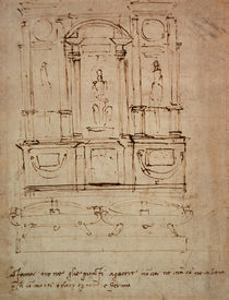 Study for a double tomb for the Medici Tombs in the New Sacristy von Michelangelo Buonarroti