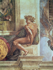 Ignudo from the Sistine Ceiling  von Michelangelo Buonarroti