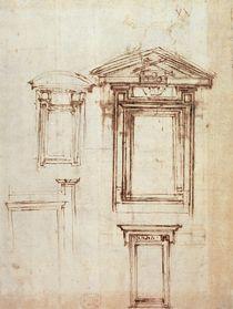 Study for a window  by Michelangelo Buonarroti