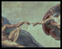 Sistine Chapel Ceiling: Creation of Adam by Michelangelo Buonarroti