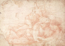 Study of a Male and Female Nude  by Michelangelo Buonarroti