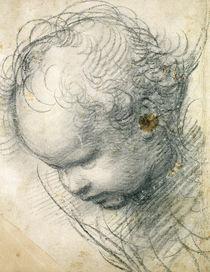 Head of a Cherub  by Raphael