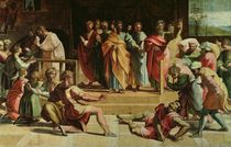 The Death of Ananias  von Raphael