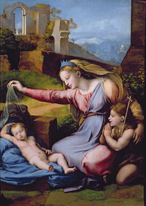 The Madonna of the Blue Diadem or The Madonna of the Veil  von Raphael