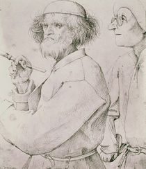 The Painter and the Art Lover  by Pieter the Elder Bruegel