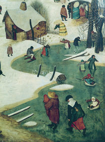 Children Playing on the Frozen River by Pieter the Elder Bruegel