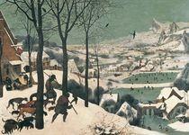 Hunters in the Snow - january by Pieter the Elder Bruegel