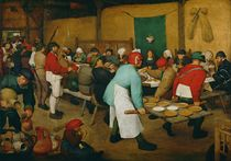 Peasant Wedding  by Pieter the Elder Bruegel