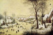 Winter Landscape with Skaters and a Bird Trap by Pieter the Elder Bruegel