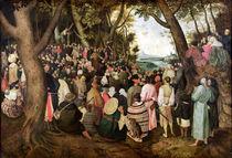 The Sermon of St. John the Baptist  by Pieter the Elder Bruegel