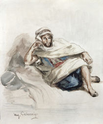 Seated Arab  by Ferdinand Victor Eugene Delacroix