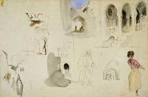 The Kasbah by Ferdinand Victor Eugene Delacroix