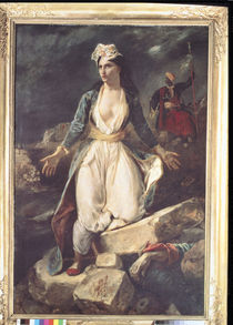 Greece expiring on the Ruins of Missolonghi by Ferdinand Victor Eugene Delacroix