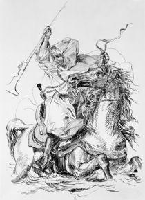 Arab Horseman  by Ferdinand Victor Eugene Delacroix