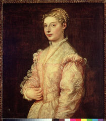 Portrait of Lavinia Vecellio  by Titian