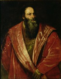 Portrait of Pietro Aretino  by Titian