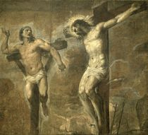 Christ on the Cross and the Good Thief von Titian