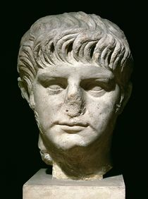 Head of Nero  by Roman