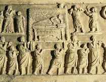Relief depicting a funeral scene  von Roman