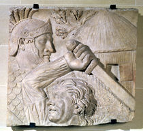 Relief depicting a Barbarian fighting a Roman legionary  von Roman