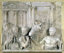 Relief depicting preparations for a sacrifice  by Roman