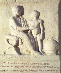 Relief depicting a visit to the doctor  von Roman