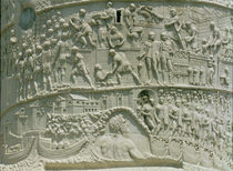 The Roman army crossing the Danube von Roman