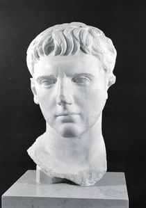 Head of Caesar Augustus  by Roman