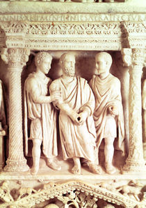 Sarcophagus of Giunio Basso by Roman
