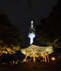 N Seoul Tower, Seoul, South Korea. by Tom Hanslien