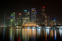 Singapore, Marina Bay at night by Thierry  Dehesdin
