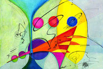 Marriage Abstract von Alma  Lee
