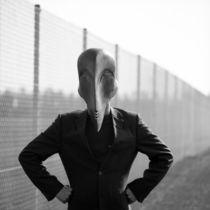 Mann mit Maske von Arno Linke-Rohn
