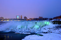 American Falls at Night, Niagara Falls Canada by Julian Sheen