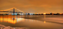 Ambassador Bridge, USA-Canada Border by Julian Sheen