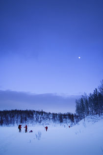 Skiing In The Moonlight. von Tom Hanslien