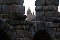 El Acueducto y la Catedral von Jose María Palomo de la Fuente