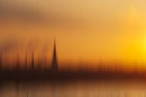 Sonnenaufgang am Rhein by Michael Schickert